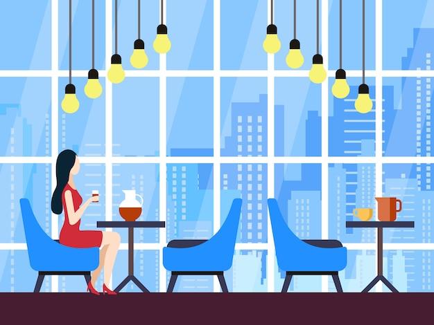 Illustration vectorielle caricature de l'espace de collaboration.