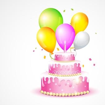Illustration vectorielle de la carte d'anniversaire