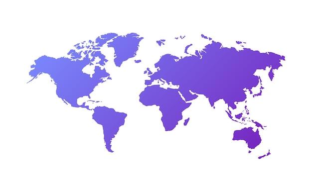 Illustration vectorielle de carte du monde isolée sur fond blanc. vecteur eps 10