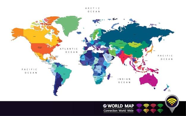 Illustration vectorielle de carte du monde