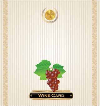 Illustration vectorielle carte des vins
