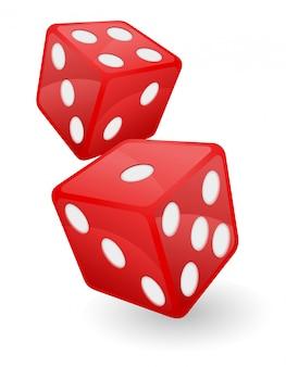 Illustration vectorielle de casino rouge dés