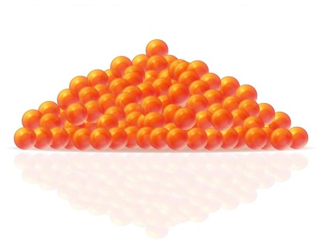 Illustration vectorielle de caviar rouge