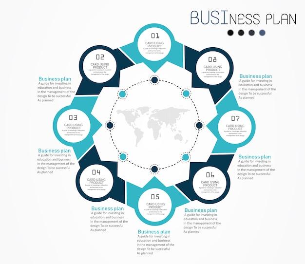Illustration vectorielle de cercle étiquette infographie design