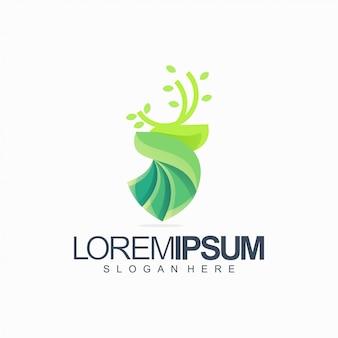 Illustration vectorielle de cerf tech logo design