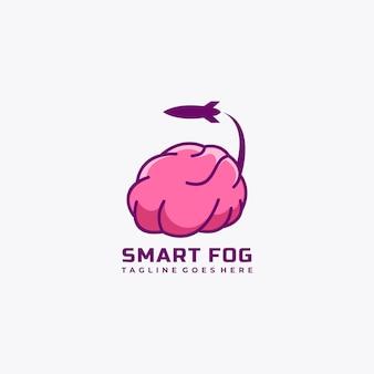 Illustration vectorielle de cerveau logo design