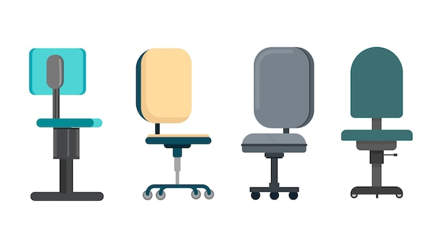 Illustration vectorielle de chaises isolées
