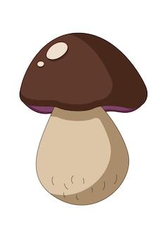 Illustration vectorielle de champignon brun dans une illustration vectorielle de style plat