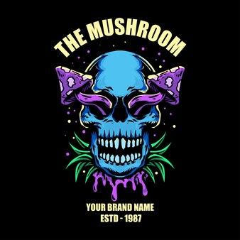 Illustration vectorielle de champignon crâne