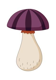 Illustration vectorielle de champignon dans une illustration vectorielle de style plat