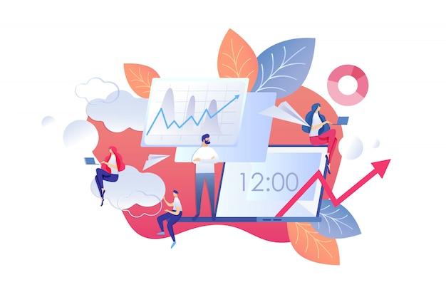 Illustration vectorielle changement de dessin animé en mode bureau.