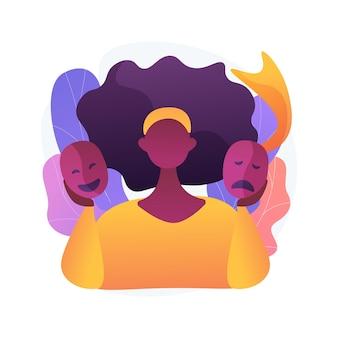 Illustration vectorielle de changement social concept abstrait. relations humaines, comportement de justice sociale, manifestation publique, protestation collective, crier au mégaphone, métaphore abstraite de l'innovation du changement.