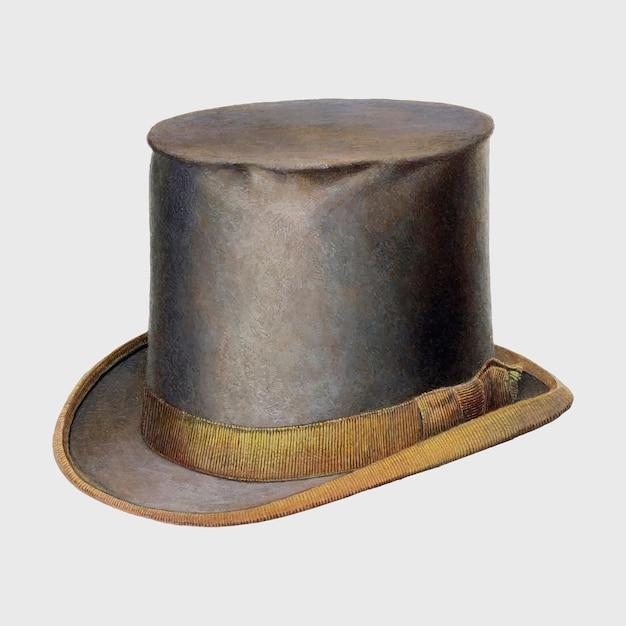 Illustration vectorielle de chapeau haut de forme vintage, remix d'œuvres d'art de gordon saltar