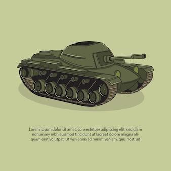 Illustration vectorielle de char de guerre
