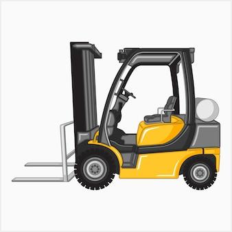 Illustration vectorielle de chariot élévateur jaune