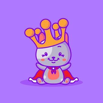 Illustration vectorielle de chat mignon