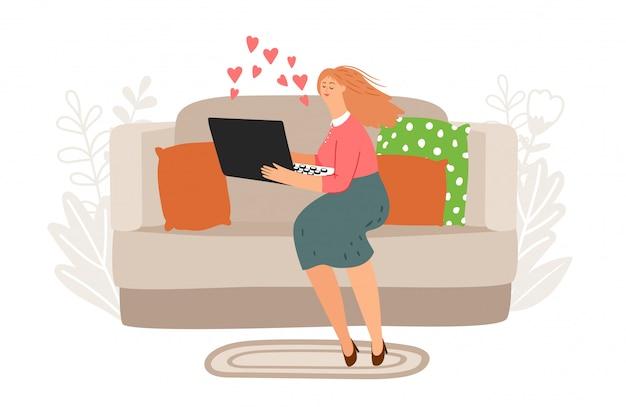 Illustration vectorielle de chat vidéo en ligne.