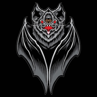 Illustration vectorielle de chauve-souris effrayante