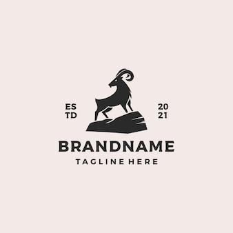 Illustration vectorielle de chèvre logo design