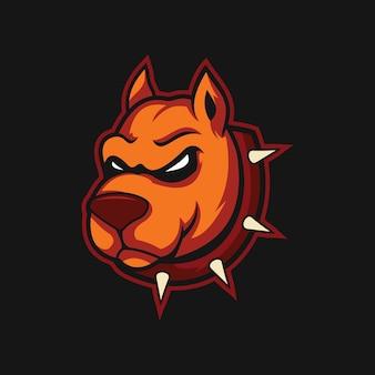 Illustration vectorielle de chien en colère design