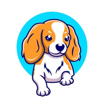Illustration vectorielle de chien mignon dessinés à la main