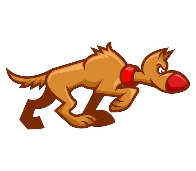 Illustration vectorielle de chien qui marche