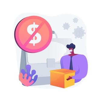 Illustration vectorielle de chômage concept abstrait. taux de chômage temporaire, difficulté à trouver du travail, statistiques de crise économique, processus de recherche d'emploi, métaphore abstraite de demande d'assurance.