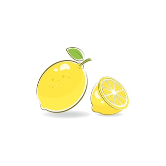 Illustration vectorielle de citron frais icône