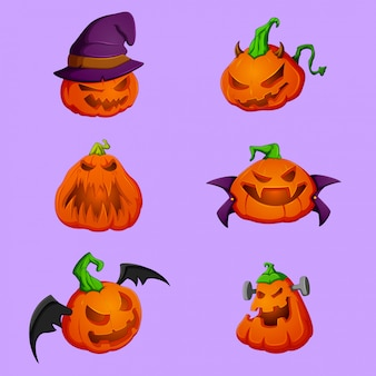 Illustration vectorielle de citrouille halloween