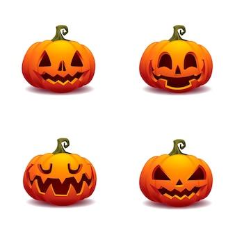 Illustration vectorielle de citrouille halloween