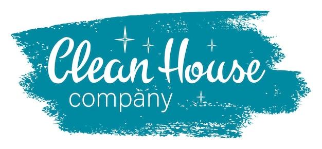 Illustration vectorielle : clean house lettrage de clean house isolé sur fond blanc. clean house parfait pour les impressions, les dépliants, les bannières, les invitations, le logo, les promotions et plus encore. eps 10