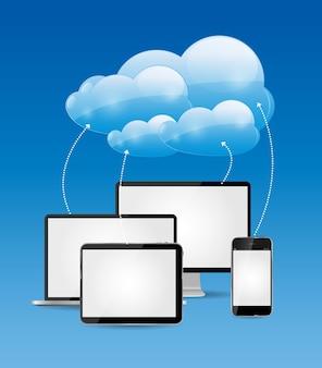 Illustration vectorielle de cloud computing business concept. eps10