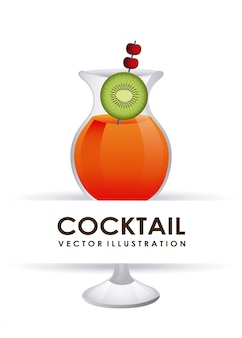 Illustration vectorielle cocktail design graphique