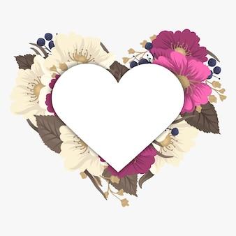 Illustration vectorielle avec un coeur. parfait pour la saint valentin, anniversaire, réservez l'invitation de date