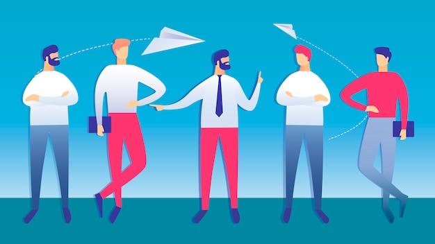 Illustration vectorielle de collègues réunion d'affaires