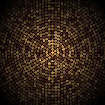 Illustration vectorielle coloré du modèle de carte de nouvel an avec des boules d'or et d'argent et voeux de nouvel an