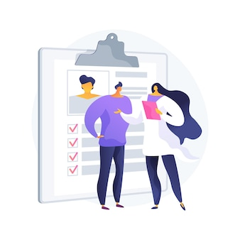 Illustration vectorielle de concept abstrait de soins de santé privés. médecine privée, assurance maladie, services médicaux payants, centre de santé, consultation spécialisée, métaphore abstraite des installations cliniques.