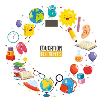 Illustration vectorielle de la conception de l'éducation
