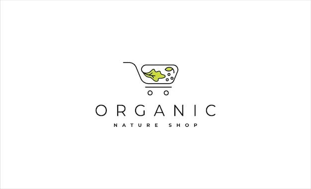 Illustration vectorielle de conception de logo de magasin de salade