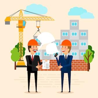 Illustration vectorielle de construction ou de bâtiment