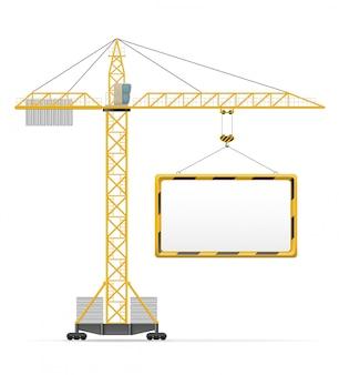Illustration vectorielle de construction de grue