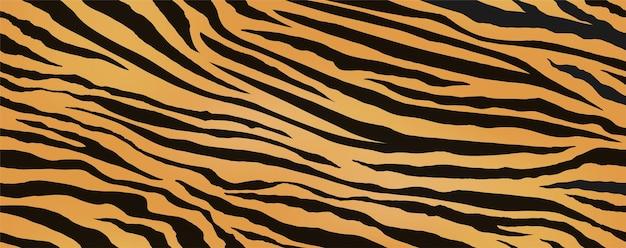 Illustration vectorielle continue de peau de tigre reproductible horizontalement et verticalement