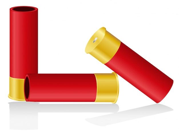 Illustration vectorielle de coquilles de fusil de chasse