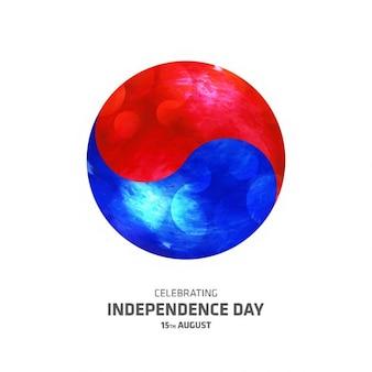 Illustration vectorielle de la corée du sud l'indépendance jour