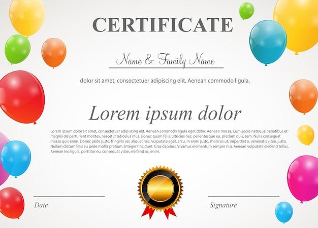 Illustration vectorielle de couleur ballons brillants carte fond