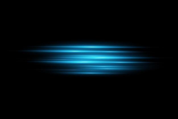 Illustration vectorielle d'une couleur bleue effet de lumière faisceaux laser abstraits de lumière rayons néons chaotiques