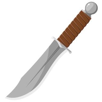 Illustration vectorielle d'un couteau tranchant