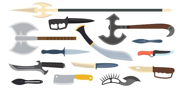 Illustration vectorielle de couteaux arme.