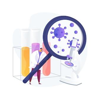 Illustration vectorielle de covid-19 concept abstrait. coronavirus dans le monde, pandémie, victimes de covid-19, épidémie d'infection, statistiques, nombre de morts, état d'urgence, métaphore abstraite de mesure de quarantaine.