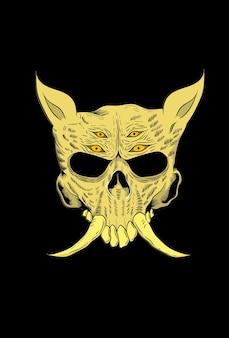 Illustration vectorielle de crâne cochon